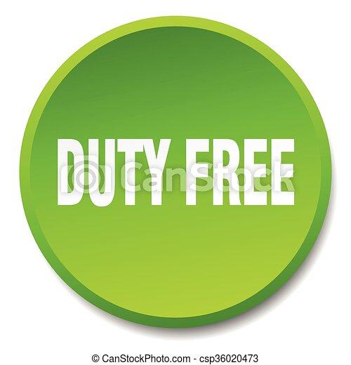 義務, 平ら, ボタン, 隔離された, 無料で, 緑, 押し, ラウンド - csp36020473