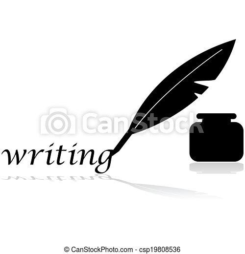 羽の ペン - csp19808536
