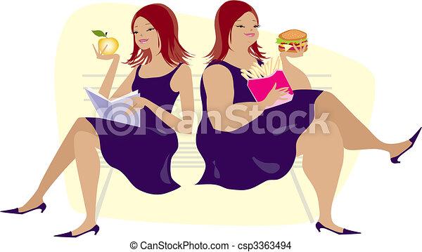 習慣, 食べること - csp3363494