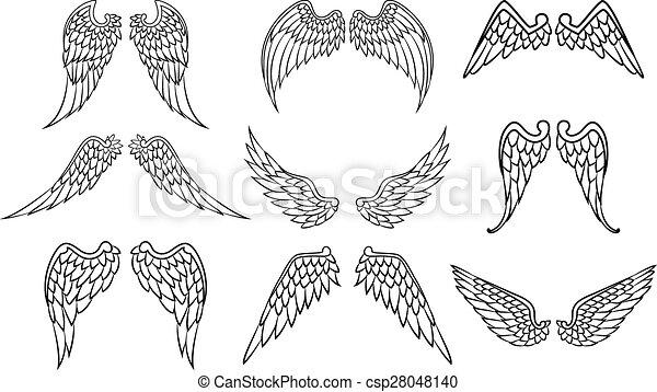 翼 天使 ベクトル イラスト 天使翼
