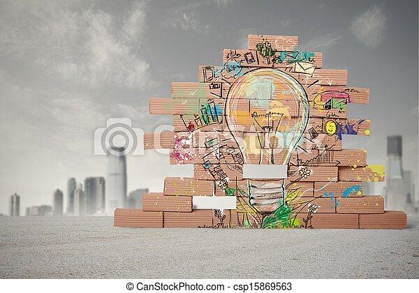 考え, ビジネス, 創造的 - csp15869563