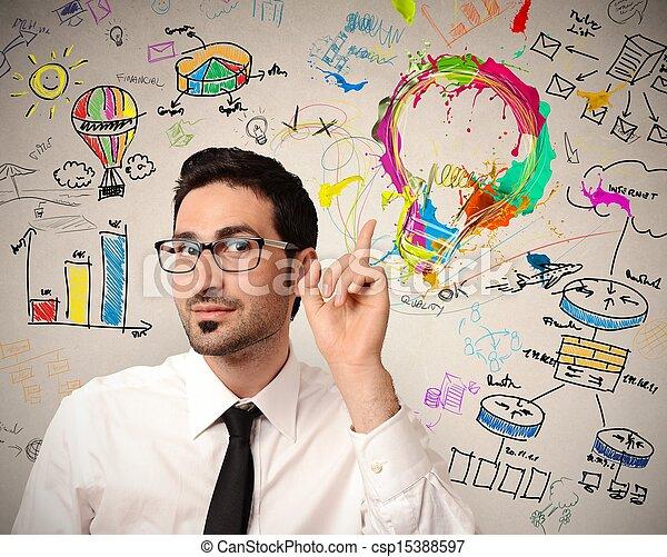 考え, ビジネス, 創造的 - csp15388597