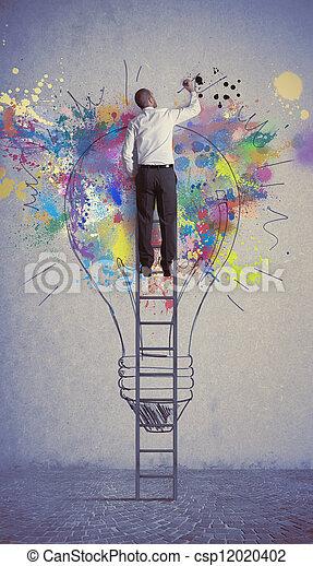 考え, ビジネス, 創造的 - csp12020402