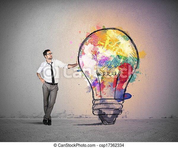 考え, ビジネス, 創造的 - csp17362334