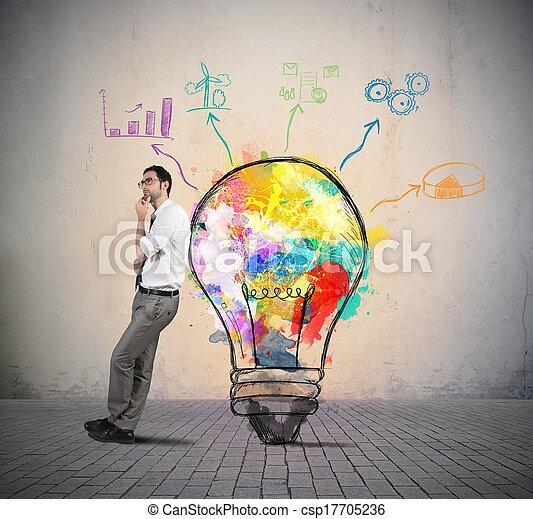 考え, ビジネス, 創造的 - csp17705236