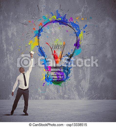考え, ビジネス, 創造的 - csp13338515