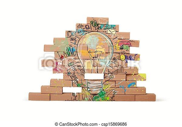 考え, ビジネス, 創造的 - csp15869686
