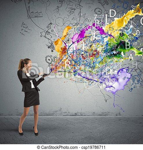 考え, ビジネス, 創造的 - csp19786711
