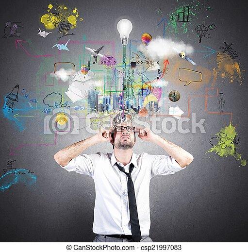 考え, ビジネス, 創造的 - csp21997083