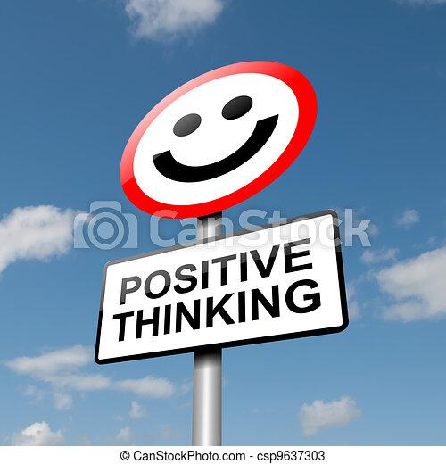 考え, ポジティブ, concept. - csp9637303