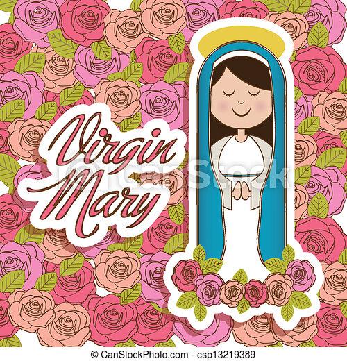 聖女瑪麗亞 - csp13219389