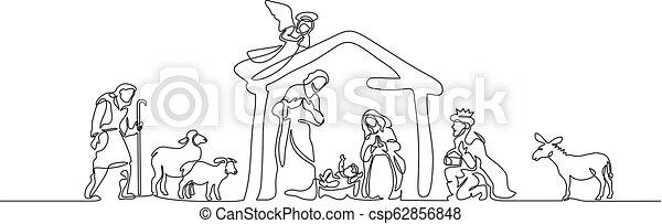 聖書, 神聖, family., 現場, イラスト, ベクトル - csp62856848