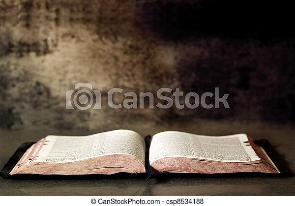 聖書, 開いた - csp8534188