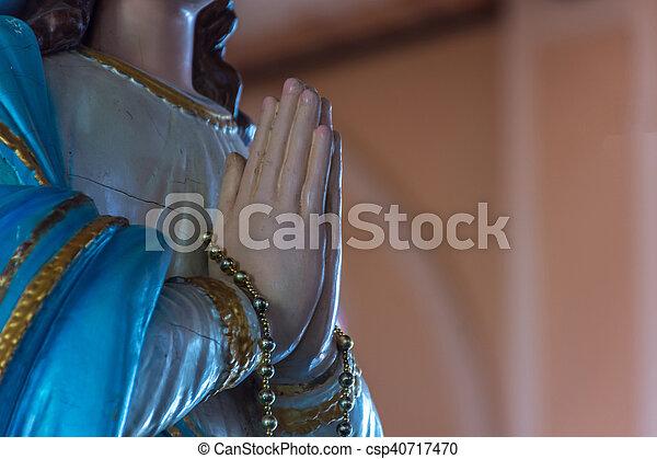 聖母マリア, 像 - csp40717470