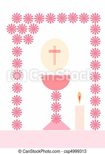 聖餐, 最初に - csp4999313