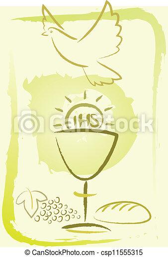 聖餐, -, 神聖, 背景 - csp11555315