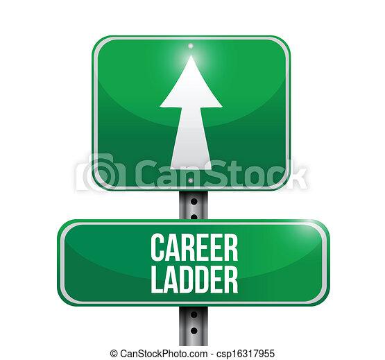 職業生涯梯子, 插圖, 簽署, 設計, 路 - csp16317955