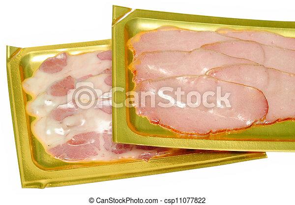 肉, パックされた - csp11077822