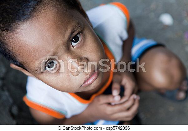 肖像画, アジア人, 若い少年 - csp5742036