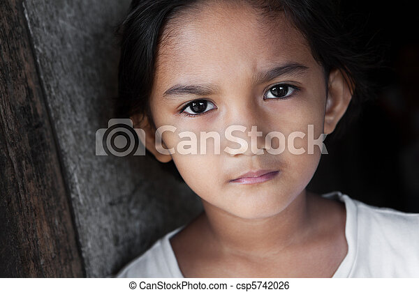 肖像画, フィリピン, 女の子 - csp5742026