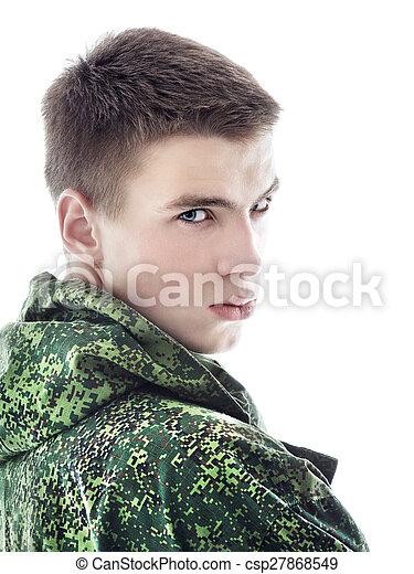肖像画, 人, 軍 - csp27868549