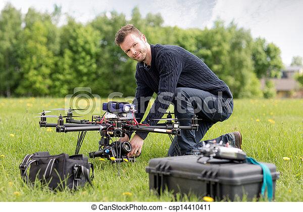肖像画, 写真撮影, 航空写真, uav - csp14410411