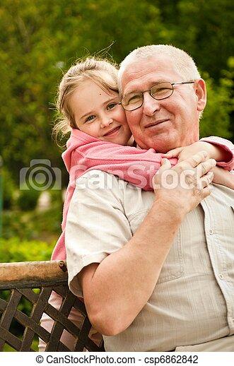 肖像画, -, 愛, 孫, 祖父母 - csp6862842