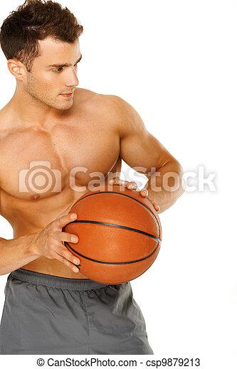 肖像画, 若い, マレ, バスケットボール選手 - csp9879213
