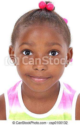 肖像, 女孩, 孩子 - csp0100132