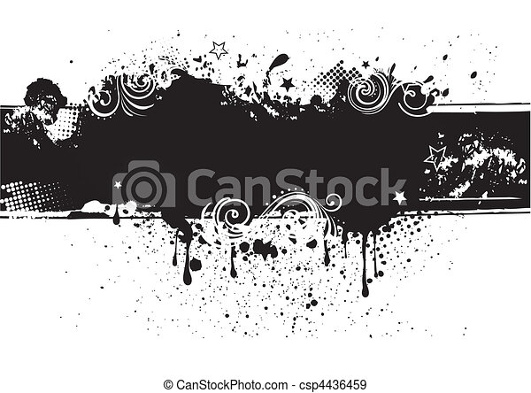 背中, インク, illustration-grunge, ベクトル - csp4436459