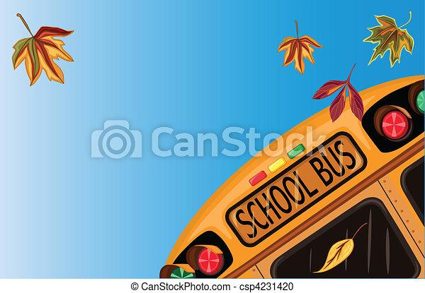 背中, 学校, 9 月 - csp4231420