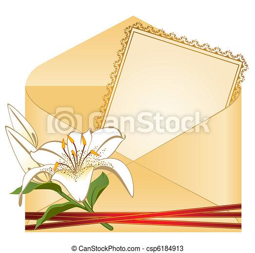 背景, カード, 結婚式 - csp6184913