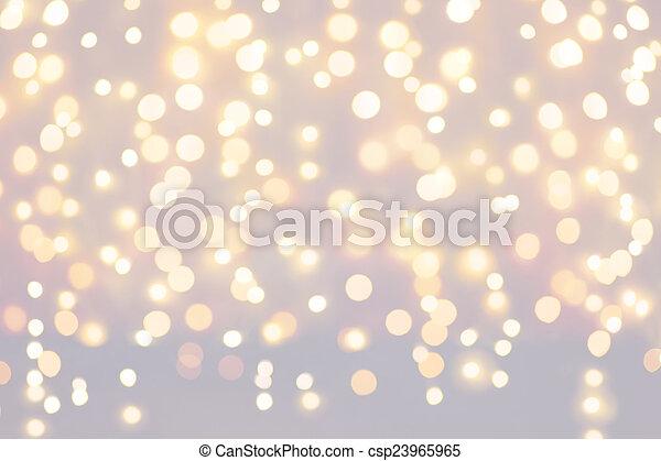 背景, クリスマス ライト, ホリデー - csp23965965