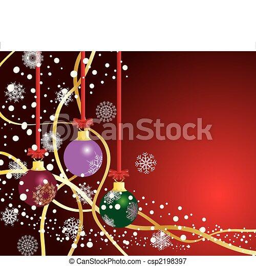 背景, クリスマス - csp2198397