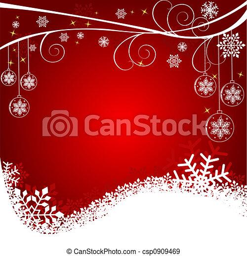 背景, クリスマス - csp0909469