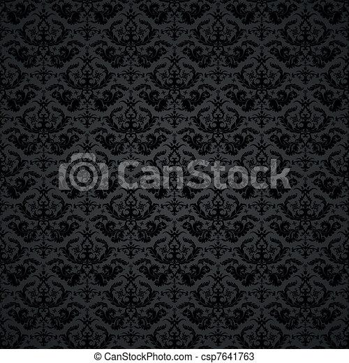 背景, ダマスク織 - csp7641763
