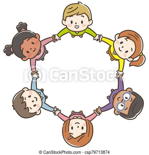 背景, 世界, 子供, 円, 白 - csp79713874