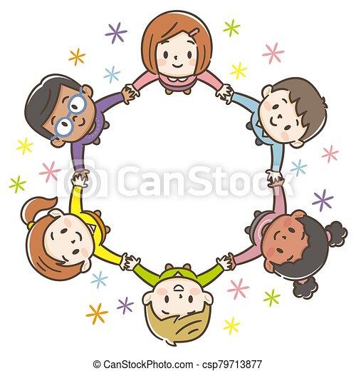 背景, 世界, 子供, 円, 白 - csp79713877