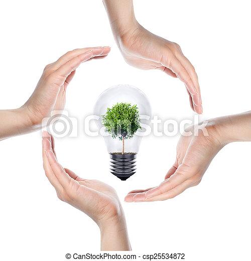 背景, 人的手, 做, 环绕, 白色 - csp25534872