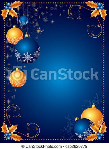 背景, 圣誕節卡片, 或者 - csp2626779