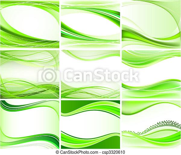 背景, 抽象的, ベクトル, セット - csp3320610