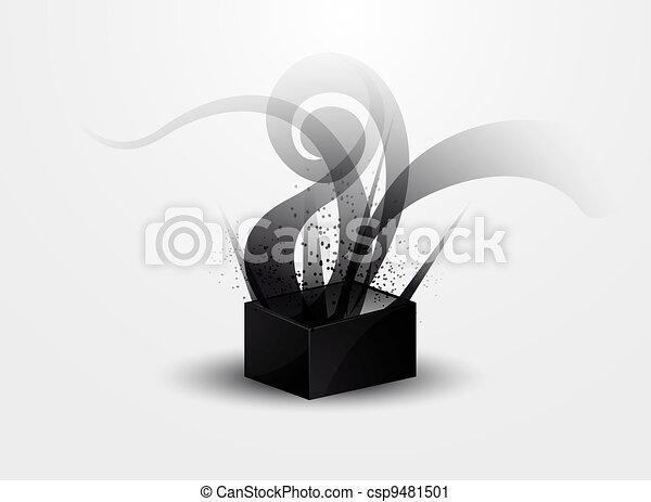 背景, 抽象的, -, p, 黒煙 - csp9481501