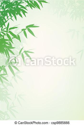背景, 木, 竹 - csp9885666