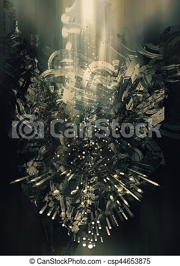 背景, 科学, 概念, 抽象的, フィクション - csp44653875