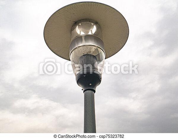 背景, 通り ランプ, 曇り, sky., 照明 - csp75323782