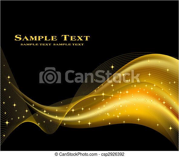背景, 金, ベクトル, 抽象的 - csp2926392