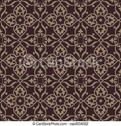 背景, 非常に, パターン, pattern., seamless, edit., ベクトル, 容易である, included, 繰り返すこと, swatch. - csp4034022