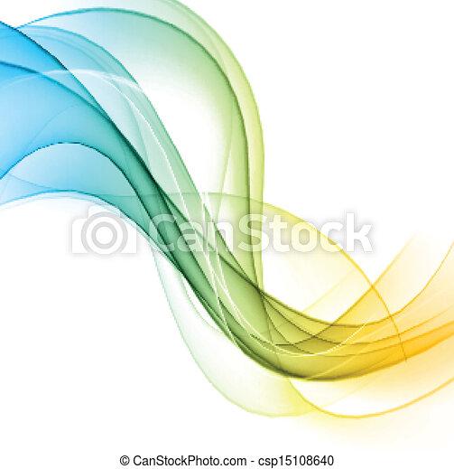 背景。, 顏色, 波狀, 摘要 - csp15108640