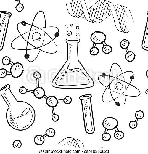 背景, seamless, 科学 - csp10380628