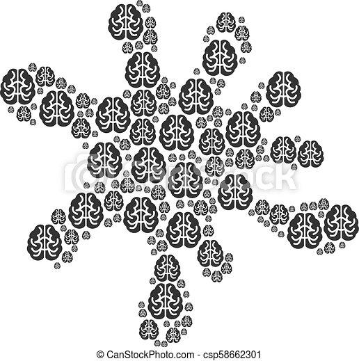 脳, しみ, 数字, アイコン - csp58662301